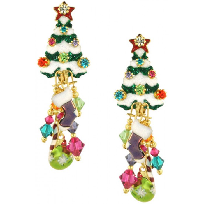 earrings tree christmas